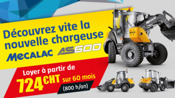 Nouvelle chargeuse Mecalac AS600